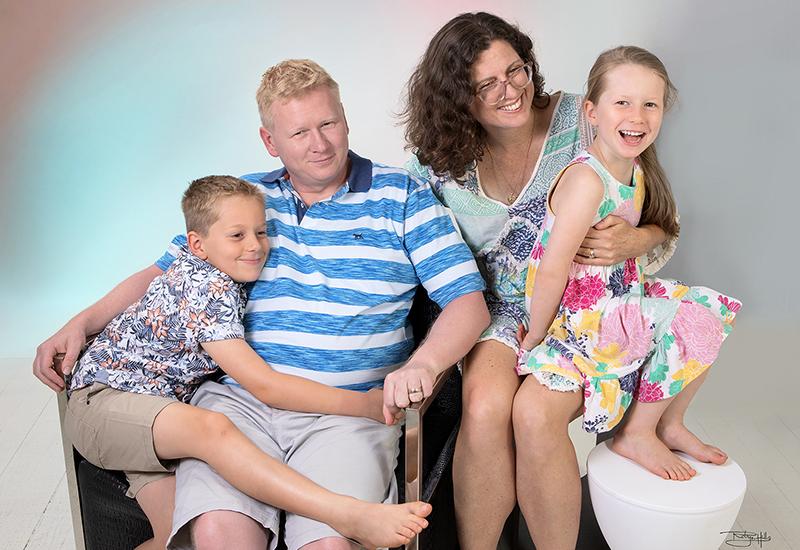 Studio portraits of David WEISS & Helen WESTON and Children, William & Freya by Robyn Hills Photography, Caloundra, Australia