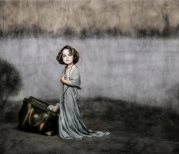 Desaturated child portrait by Robyn Hills Photography