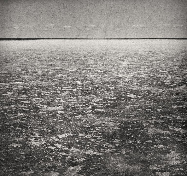 Film photo of Lake Eyre edge by Robyn Hills Photography, Australia